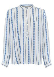 Lollys Laundry Lux Jaquard Shirt - Blue