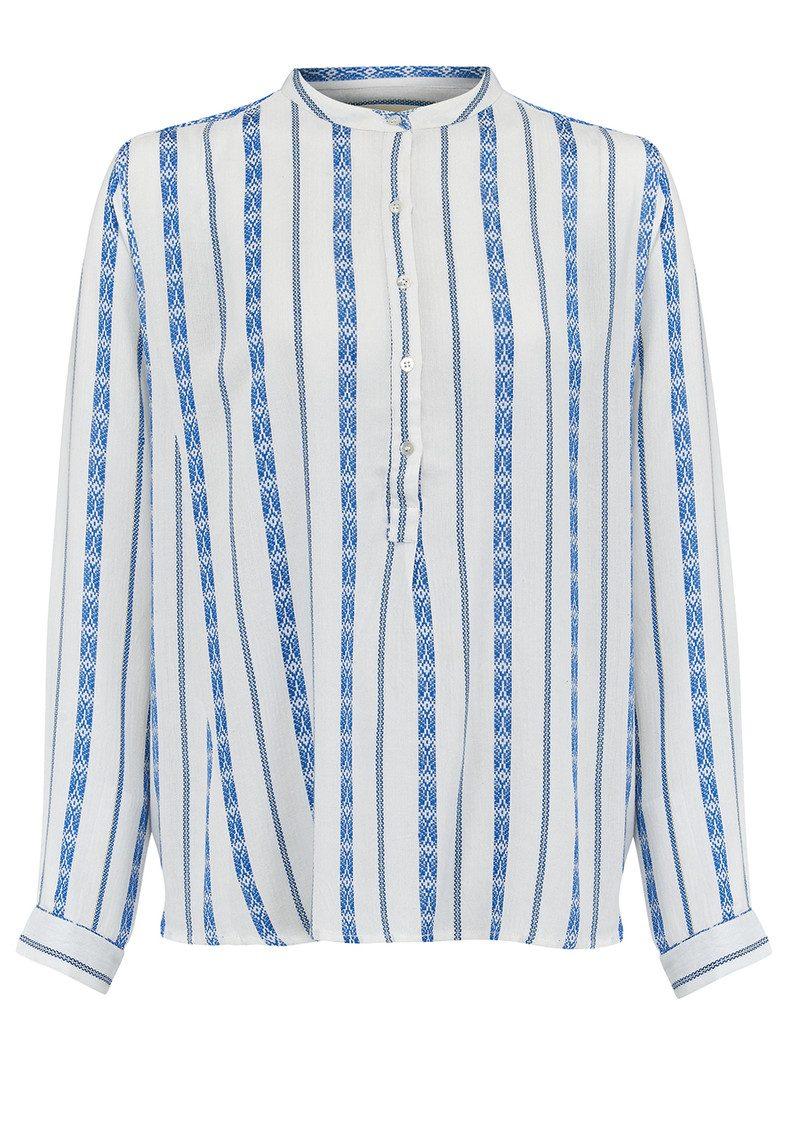 Lollys Laundry Lux Jaquard Shirt - Blue main image