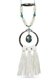 BRAVE LOTUS Tassel Necklace - Silver