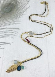 BRAVE LOTUS Asymetric Cluster Necklace - Gold