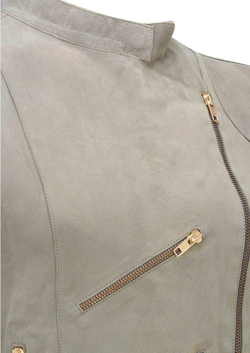 FAB BY DANIE Paris Suede Jacket - Taupe main image