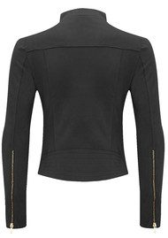 FAB BY DANIE Paris Suede Jacket - Barely Black