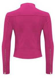 FAB BY DANIE Paris Suede Jacket - Hot Pink