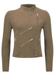 FAB BY DANIE Paris Suede Jacket - Light Tan