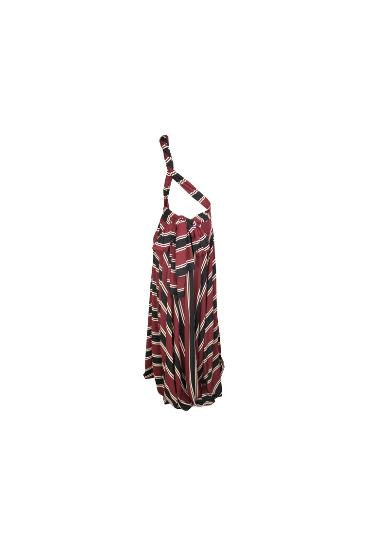 Butter By Nadia Long Jersey Ball Gown - Black & Red Stripe main image