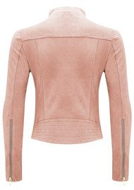 FAB BY DANIE Paris Suede Jacket - Baby Pink