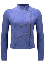 FAB BY DANIE Paris Suede Jacket - Cobalt Blue