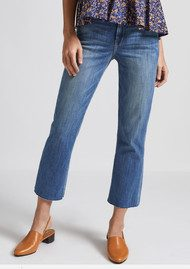 Current/Elliott The Kick Jean with Cut Hem - Pacific
