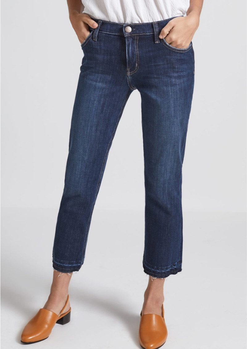 Current/Elliott The Cropped Straight Jeans with Released Hem - Hampton main image