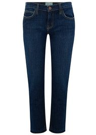 Current/Elliott The Cropped Straight Jeans with Released Hem - Hampton