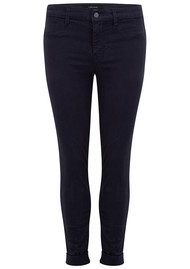 J Brand Anja Clean Cuffed Crop Jeans - Dark Navy