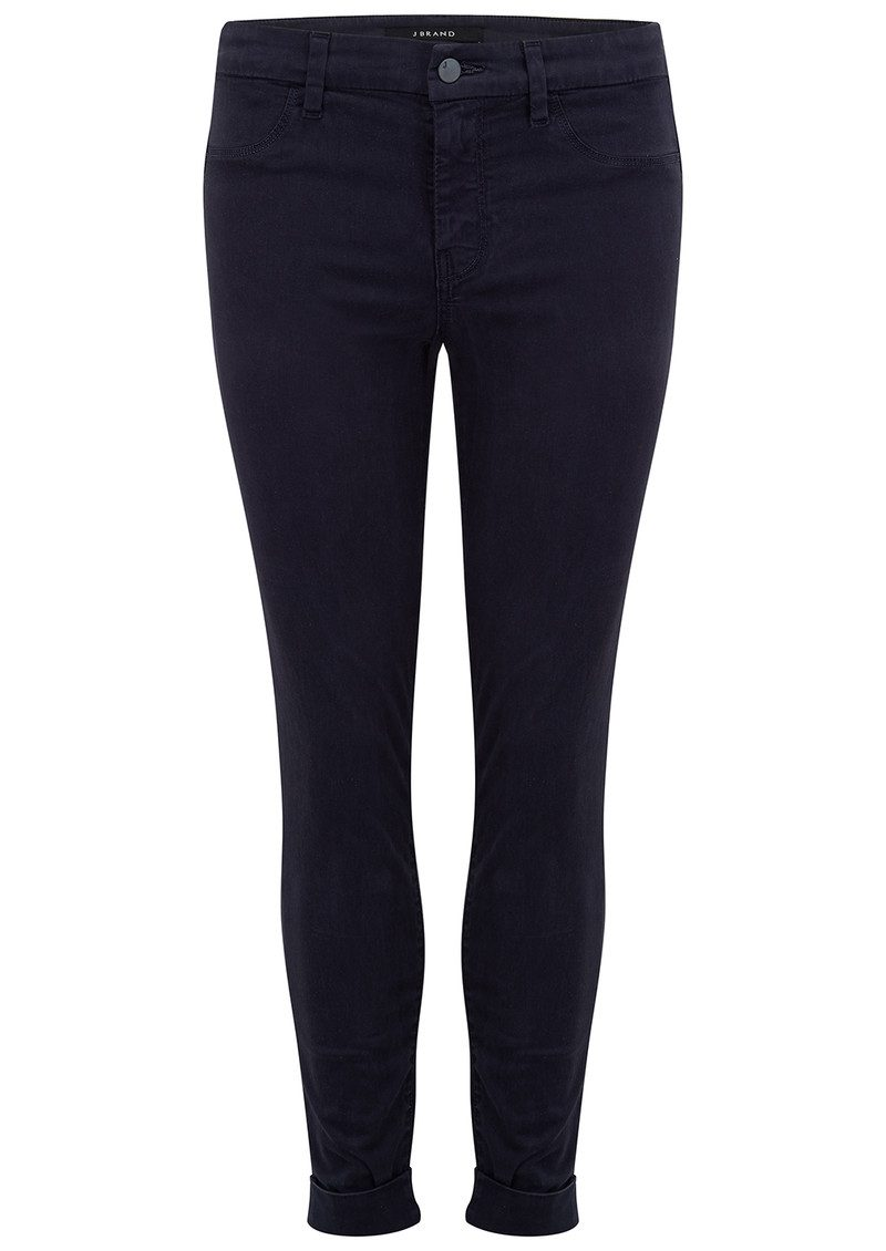 J Brand Anja Clean Cuffed Crop Jeans - Dark Navy main image
