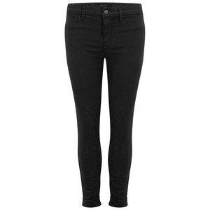 Anja Clean Cuffed Crop Jeans - Black