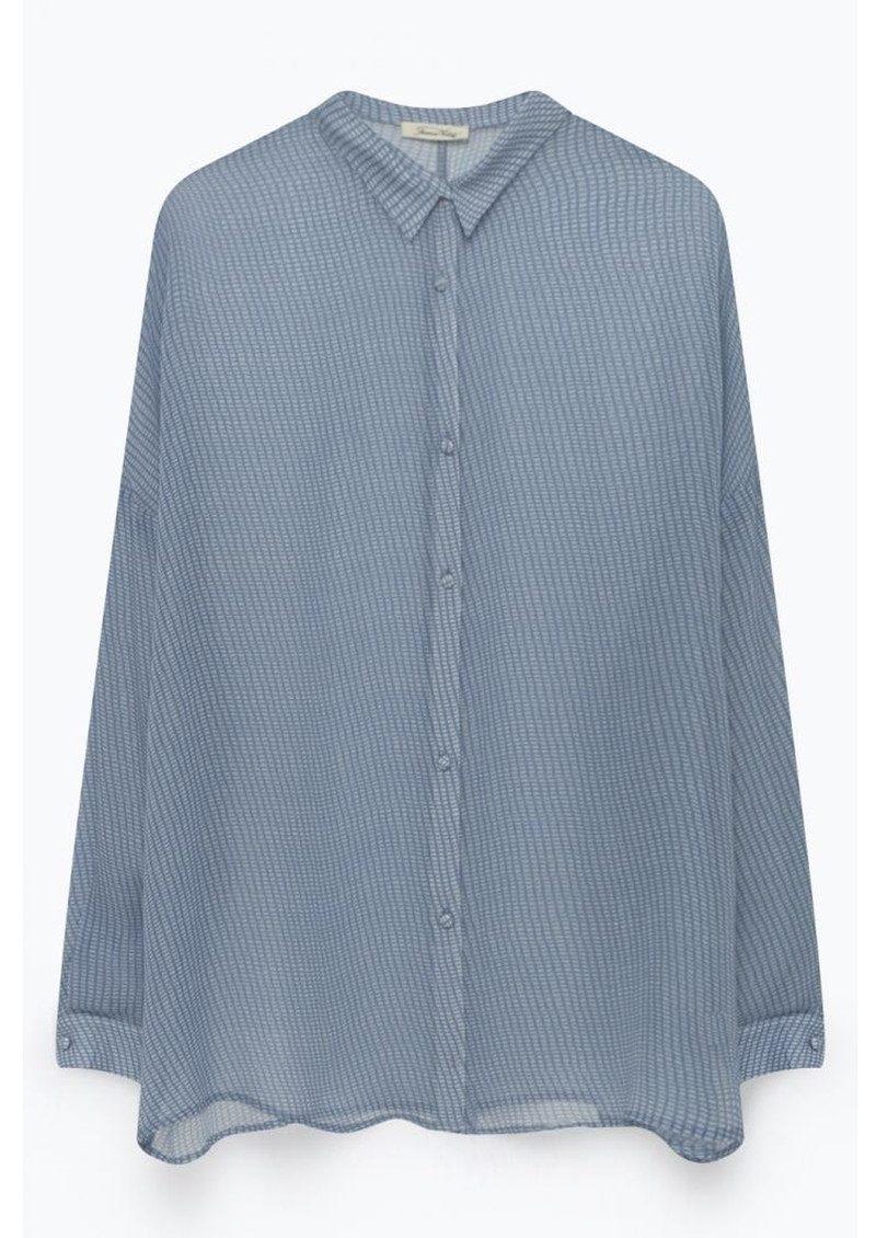 American Vintage Peonyland Long Sleeve Shirt - Fence main image