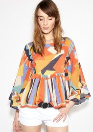 Ba&sh Famous Top - Orange Print