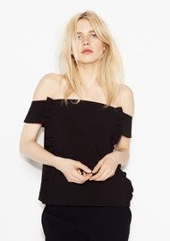 Ba&sh Arob Off Shoulder Top - Black