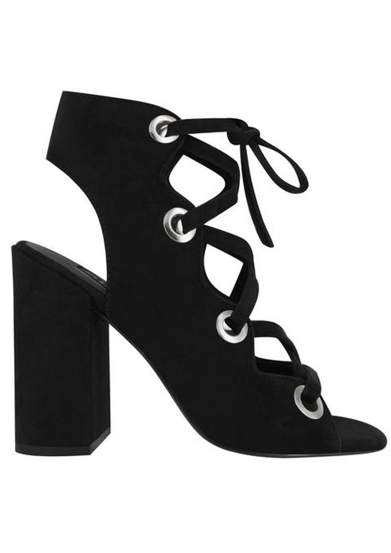 SENSO Uba Lace Up Suede Heels - Ebony main image