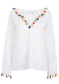 PAMPELONE Mambo Cotton Blouse - White