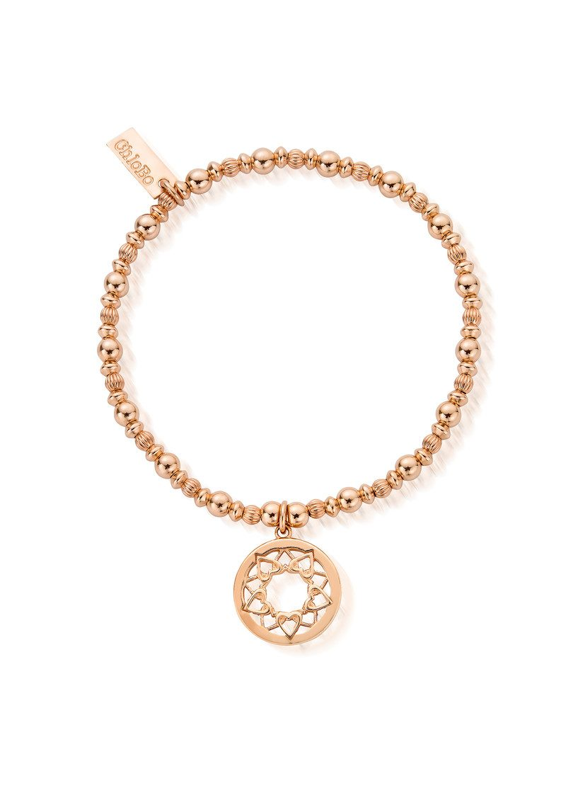 Heart Mandala Bracelet - Rose Gold main image