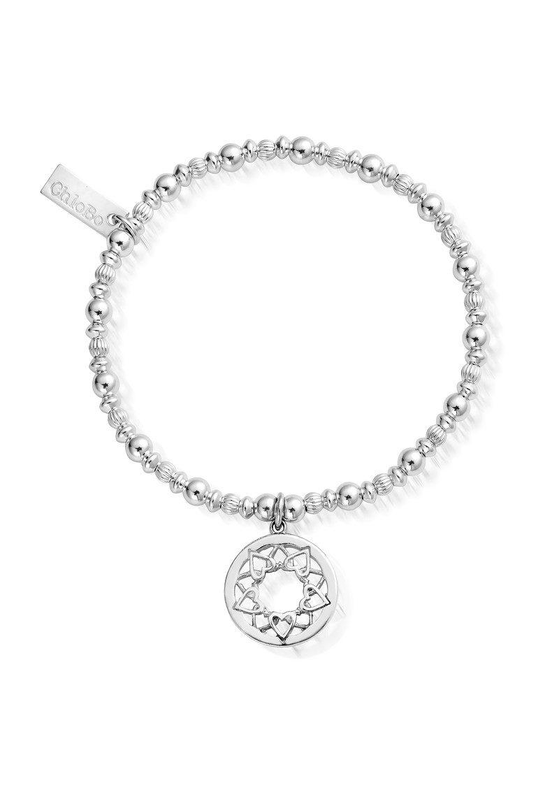 ChloBo Heart Mandala Bracelet - Silver main image