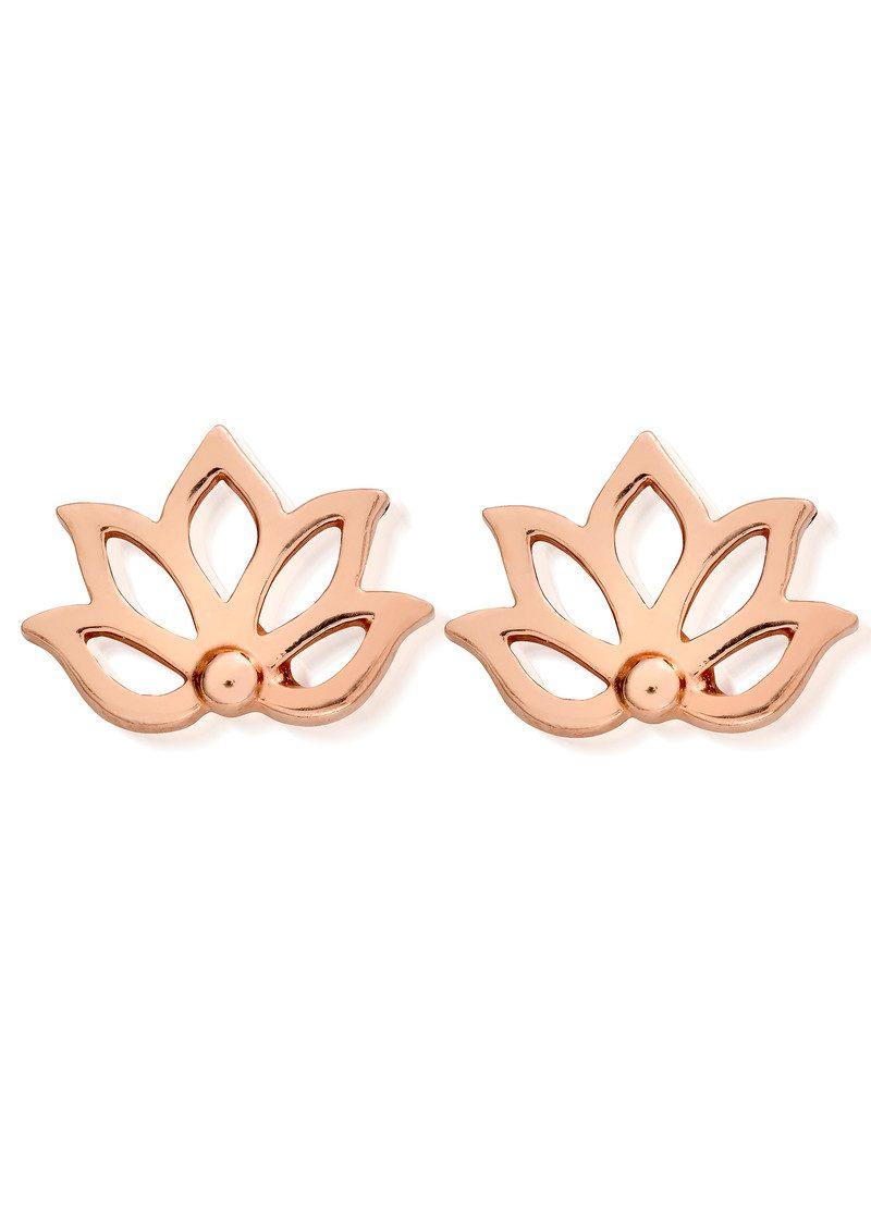 ChloBo Lotus Stud Earrings - Rose Gold main image