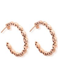 ChloBo Evil Eye Hoop Earrings - Rose Gold