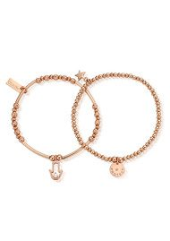 ChloBo Protection Set of 2 Bracelets - Rose Gold