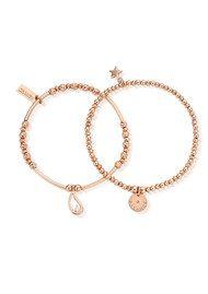 ChloBo Balance Set of 2 Bracelets - Rose Gold