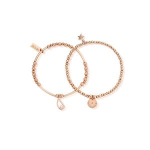 Balance Set of 2 Bracelets - Rose Gold