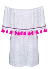 PITUSA Ibiza Mini Dress - White