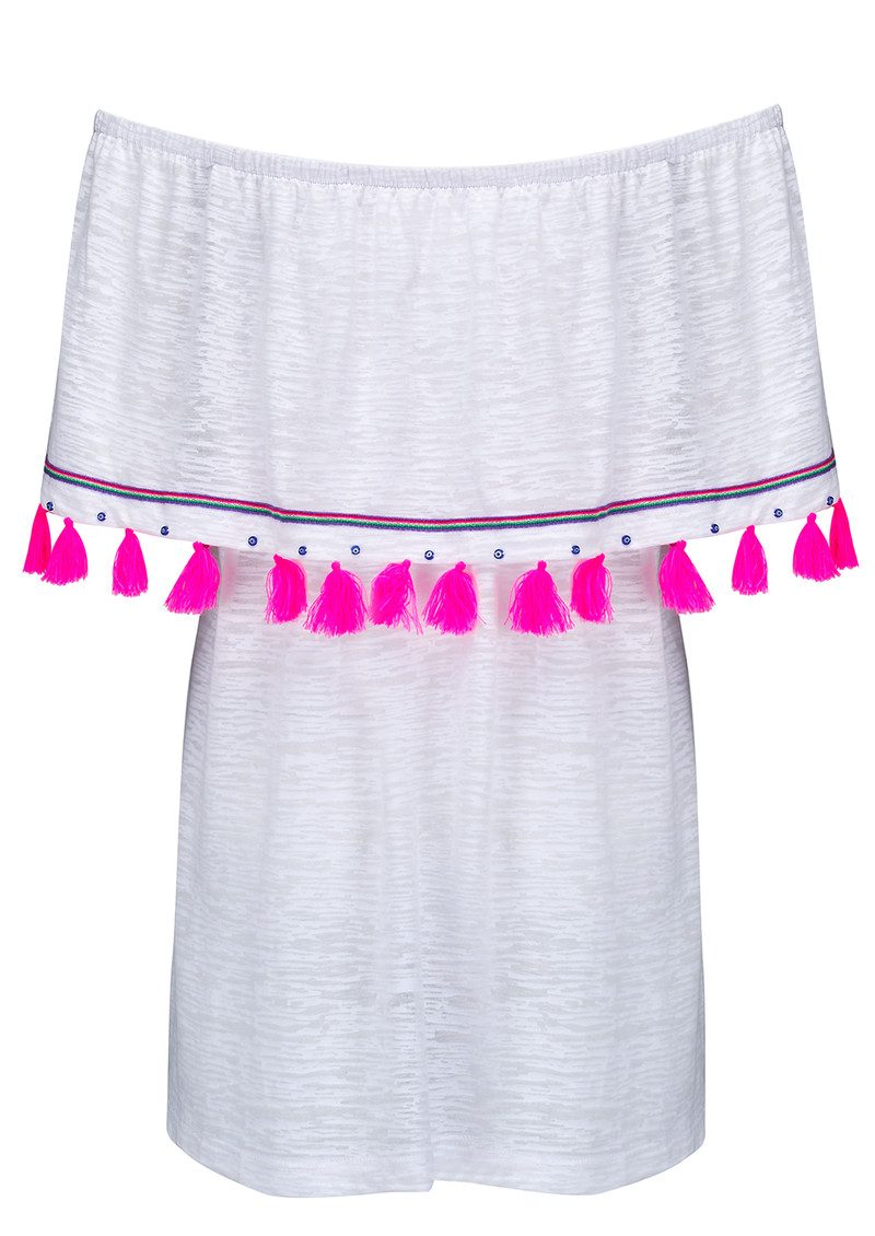PITUSA Ibiza Mini Dress - White main image