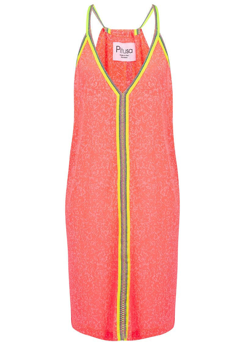 PITUSA Mini Sun Dress - Watermelon main image