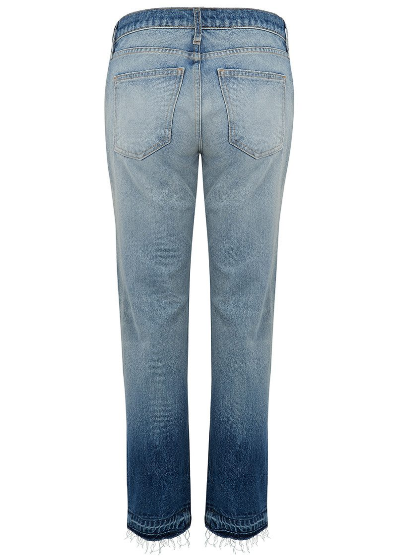 Current/Elliott The Cropped Straight Jean - Indigo Ombre with Released Hem main image