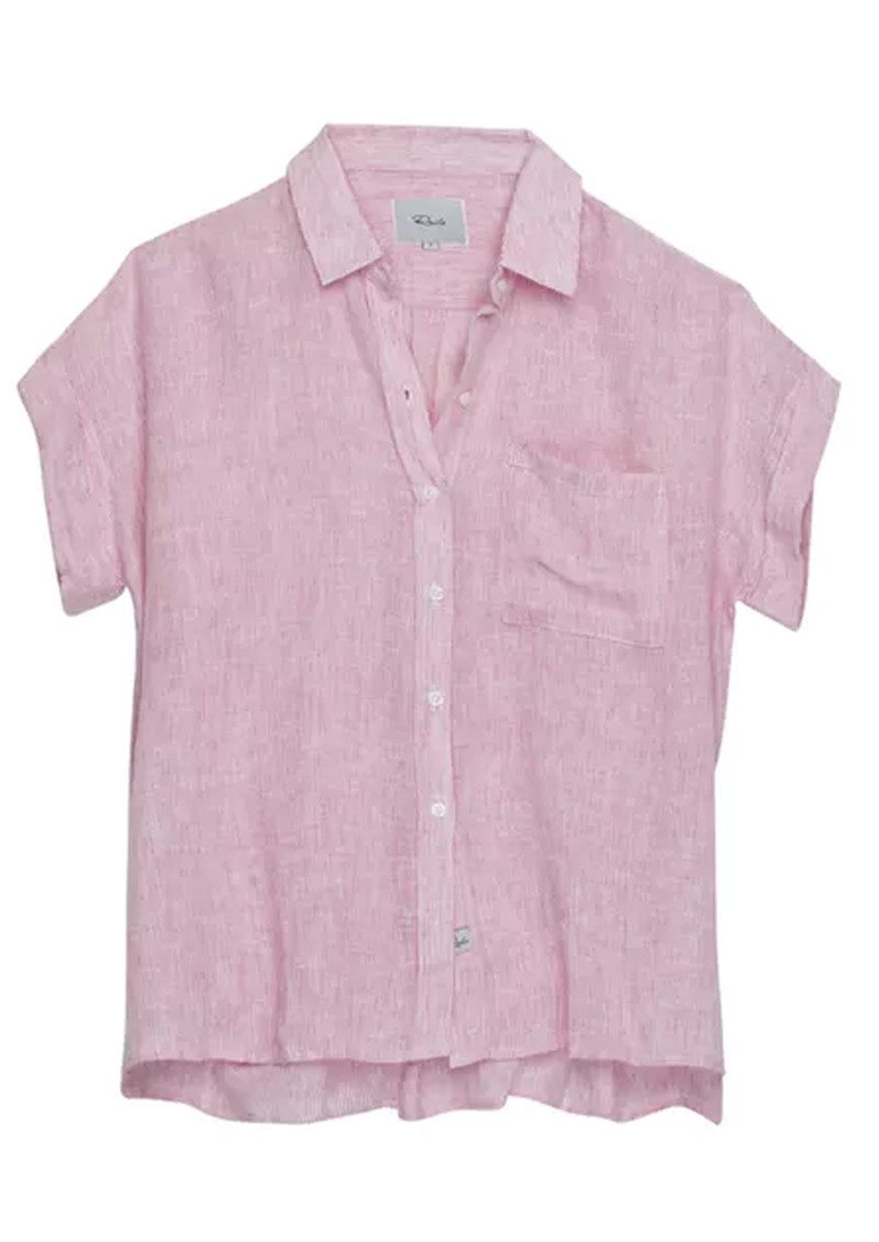 Rails Whitney Stripe Shirt - Melon & White main image
