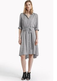 Great Plains Ditsy Daydream Shirt Dress - Cream & Black