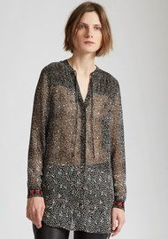 Great Plains Floral Printed Shirt - Black Combo
