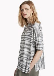 Great Plains Sonar Stripe Slouch Top - Black Combo