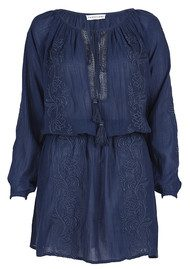 PAMPELONE Romana Tunic Dress - Navy