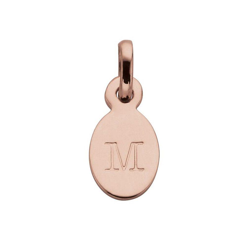 Bespoke Alphabet 'M' Charm - Rose Gold