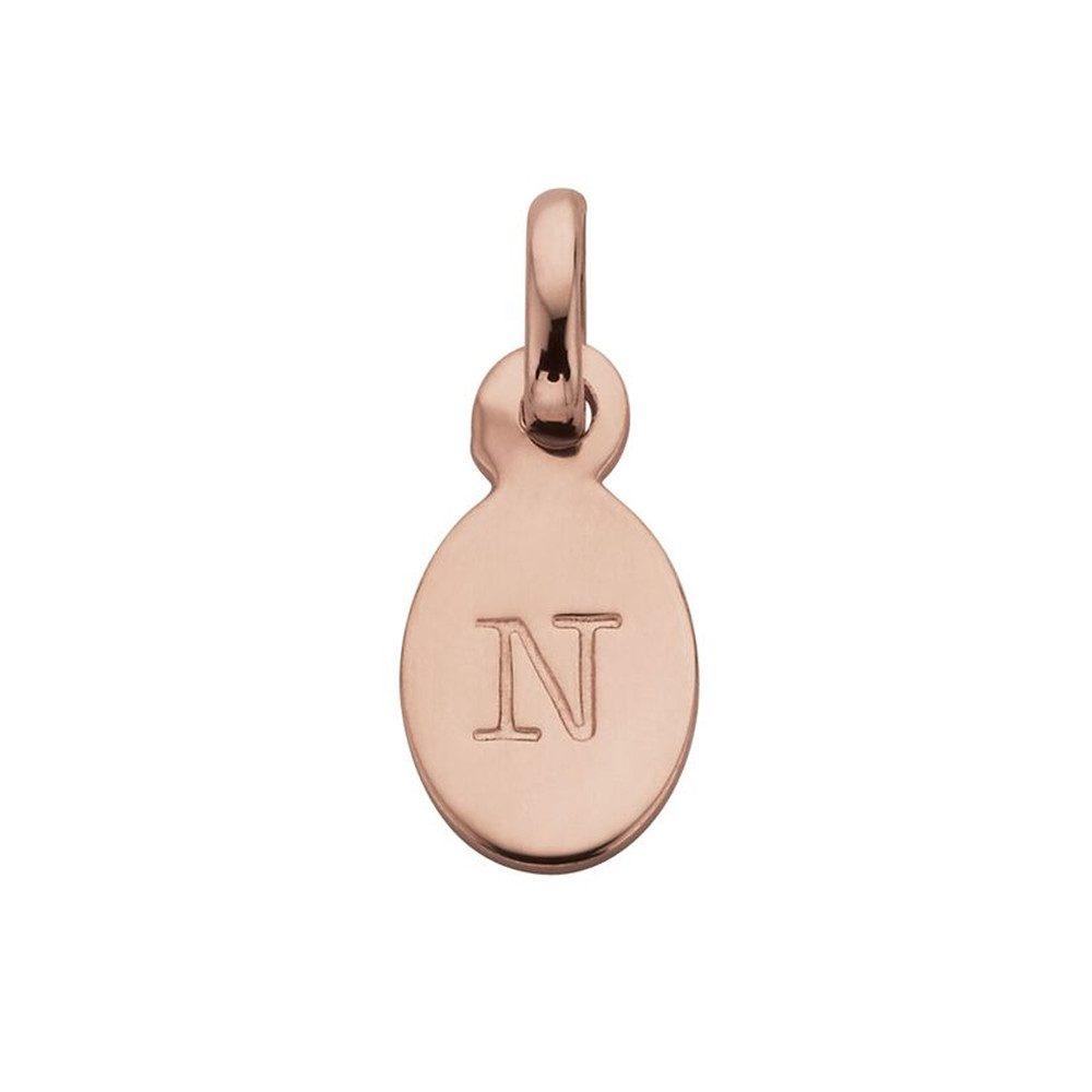 Bespoke Alphabet 'N' Charm - Rose Gold