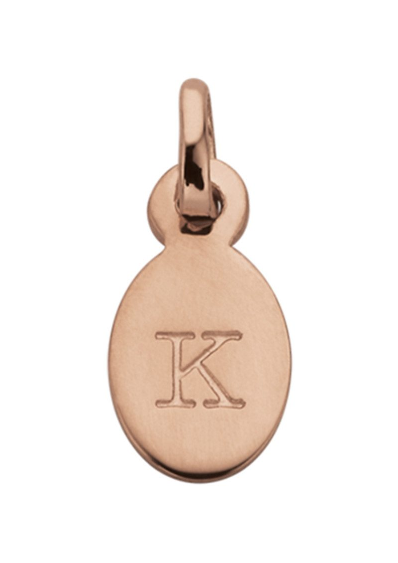 KIRSTIN ASH Bespoke Alphabet 'K' Charm - Rose Gold main image
