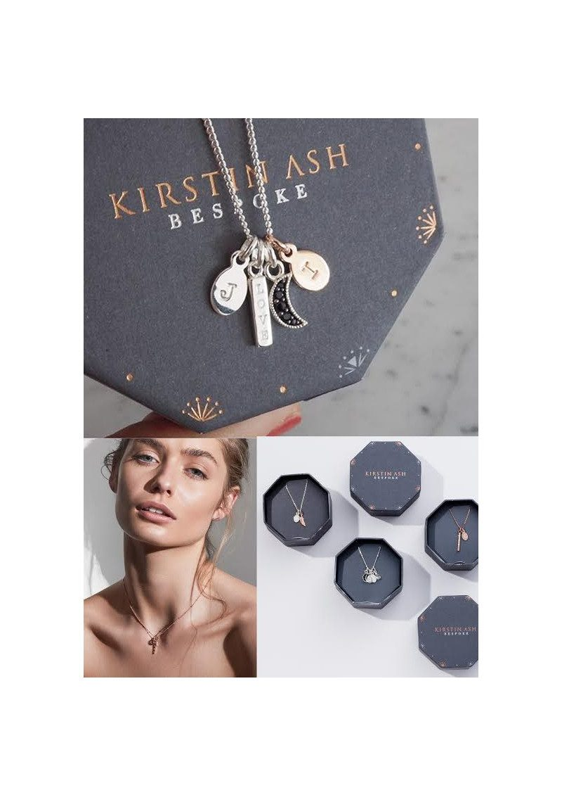 KIRSTIN ASH Bespoke Alphabet 'T' Charm - Rose Gold main image