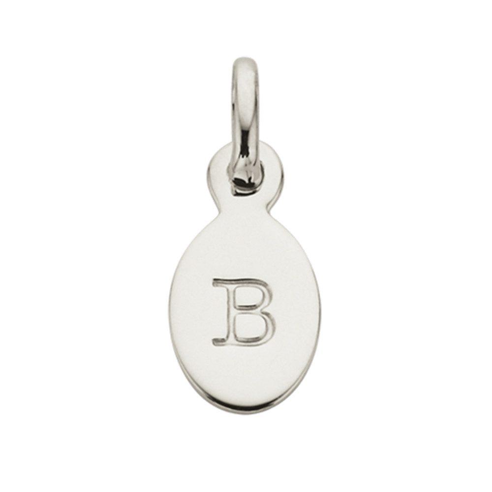 Bespoke Alphabet 'B' Charm - Silver