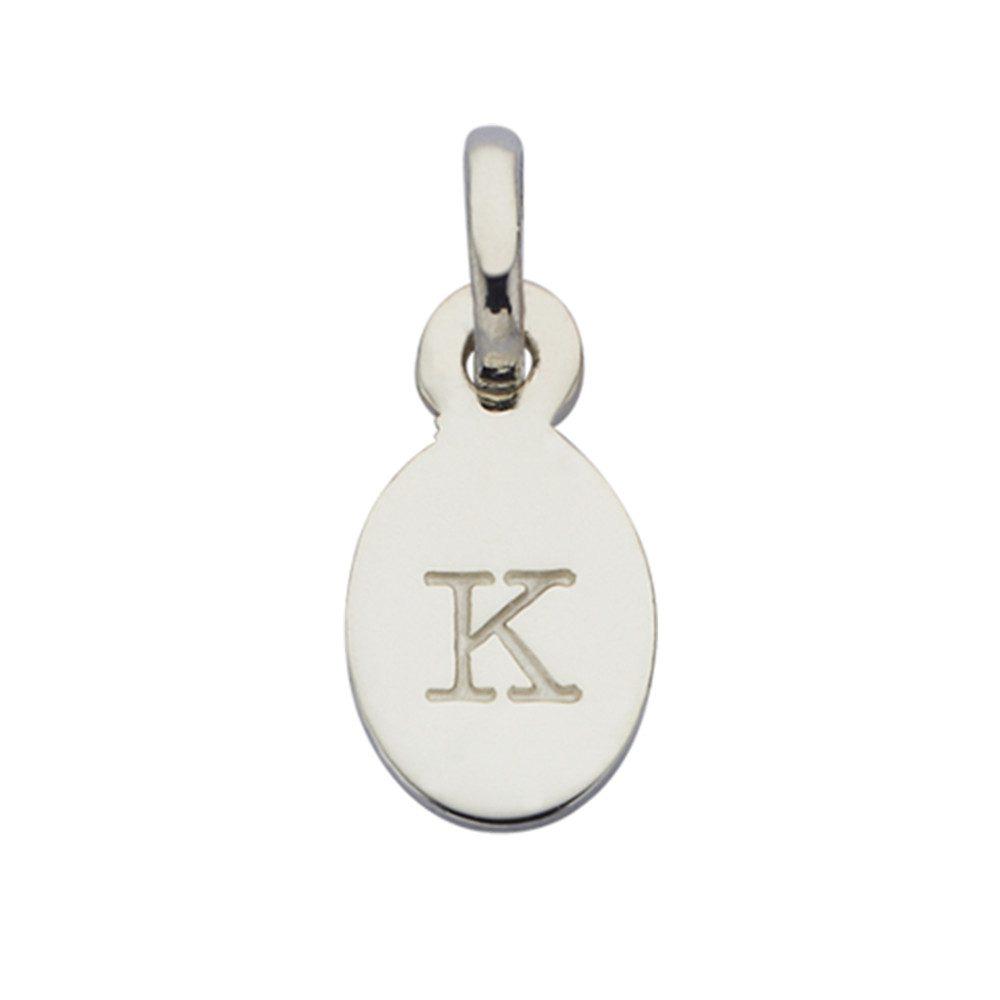 Bespoke Alphabet 'K' Charm - Silver
