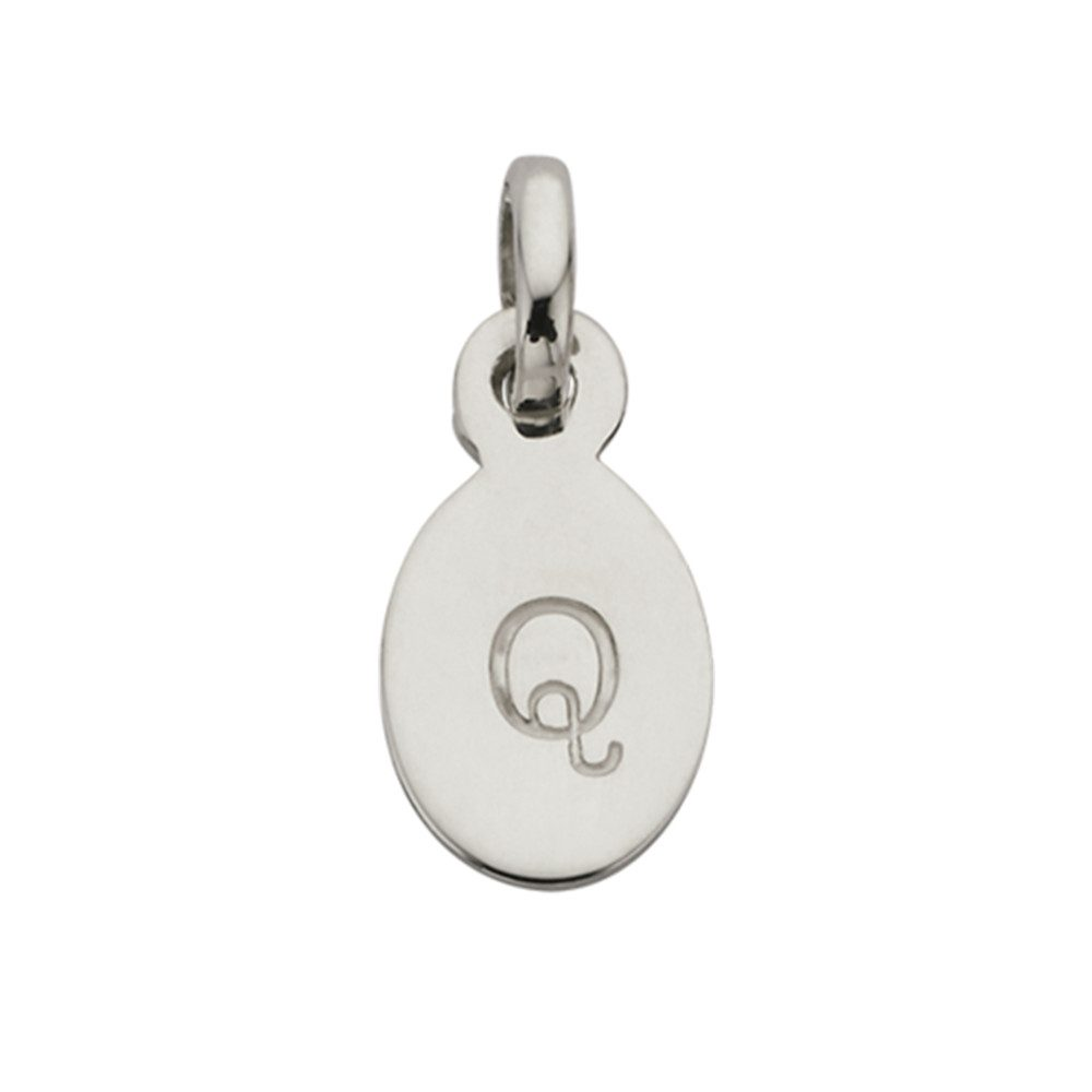 Bespoke Alphabet 'Q' Charm - Silver