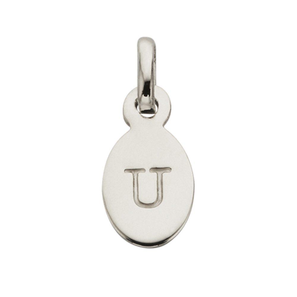 Bespoke Alphabet 'U' Charm - Silver