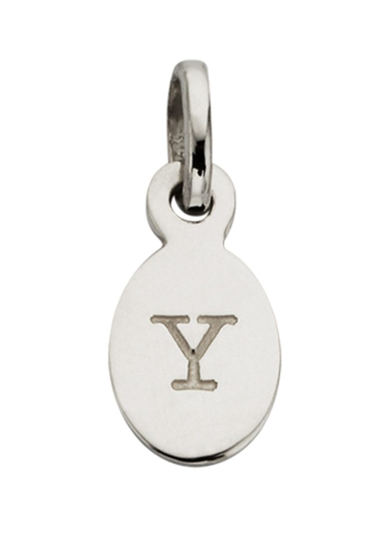 Bespoke Alphabet 'Y' Charm - Silver main image
