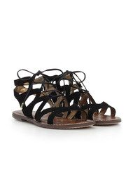 Sam Edelman Gemma Lace Up Gladiator Sandals - Black