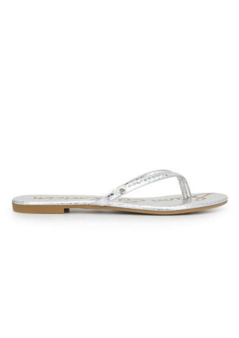 e67ce17db Sam Edelman Oliver Leather Flip Flop - Soft Silver