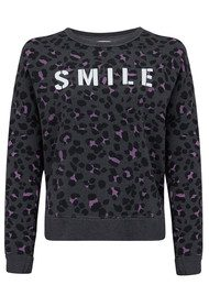 SUNDRY Crossback Smile Sweater - Charcoal Grey